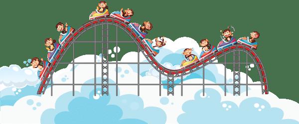 b2b digital marketing is like roller coaster.