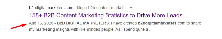 Google search and the date when was the article publish why you are not getting traffic to your website is because your content is outdated and you are not producing consistently new content