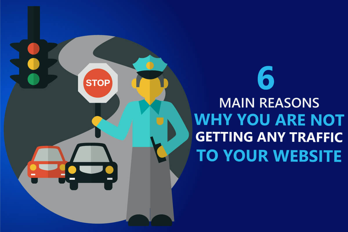 6 main reasons why you are not getting any traffic to your website article from b2bdigitalmarketers.com