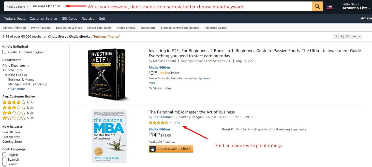 using amazon kindle store for keyword research and find ton of keyowords, also this helps to avod content marketing mistakes
