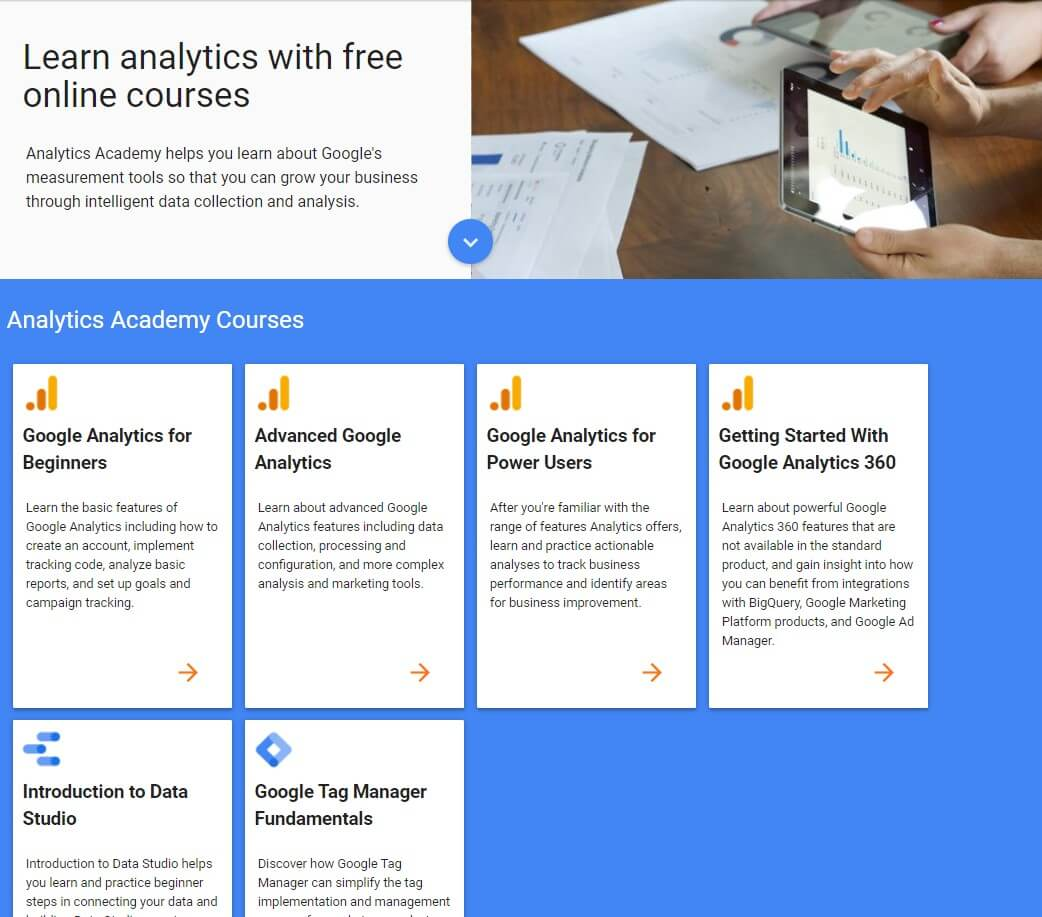 b2b content marketing habits helps you to better collect and analyze data and to learn how to do it. Google analytics academy is a great place to start with learning how to use your data and analytics correctly and transform into insights.