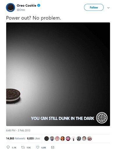 dunk in the dark from Brand Oreo is a great example of real-time marketing and how their marketing team achieved excellent results with a minimum marketing budget. The next b2b content marketing trends in 2022