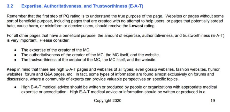 Expertise, authoritativeness, and trustworthiness (E-A-T) are important measures for Google to recognize what websites are great and which are not. Snippet from Google Guideline expertise, authoritativeness, and trustworthiness. And internal linking helps build authority for your website. B2B SEO strategies for Blog