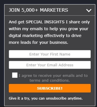 Newletter blog example from b2bdigitalmarketers.com How to Use B2B SEO and B2B Content Marketing for Lead Generation.