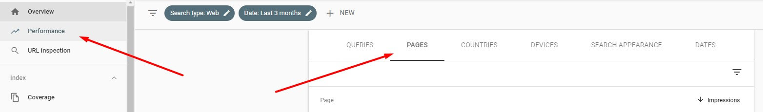 Historical optimization step one is to find old blog posts that used to perform very well. Use Google Search Console dashboard to find it.