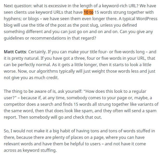 Matt Cutts in an interview said that shorter URLs perform better. Snipped from Matt Cutts interview about shorter URL are better for SEO.