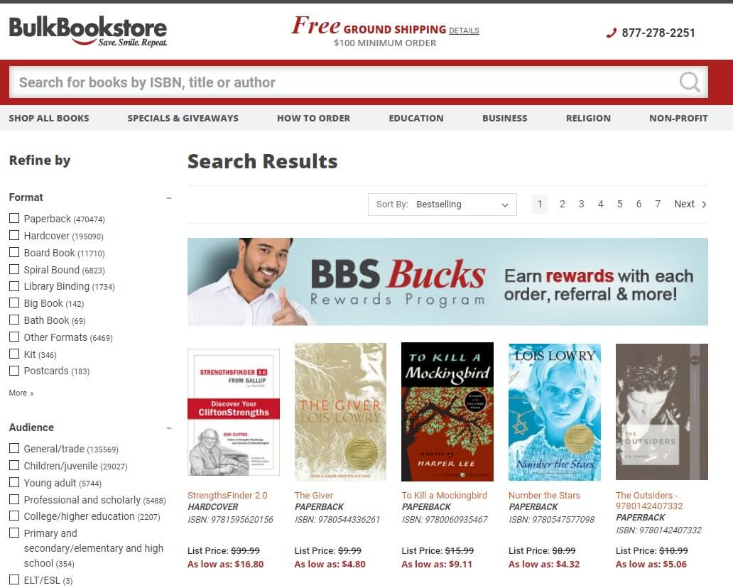 Bulk Book Store is a website and business where businesses can order books in bulk. A great example of B2B Business.