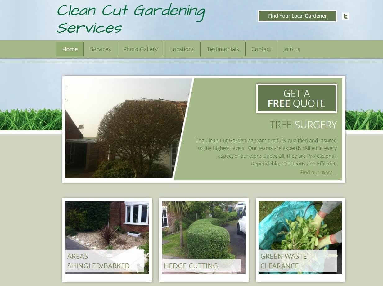 Clean Cut Gardening services provides professional gardening services in the UK to consumers. Example of B2C company. B2B vs B2C Marketing.