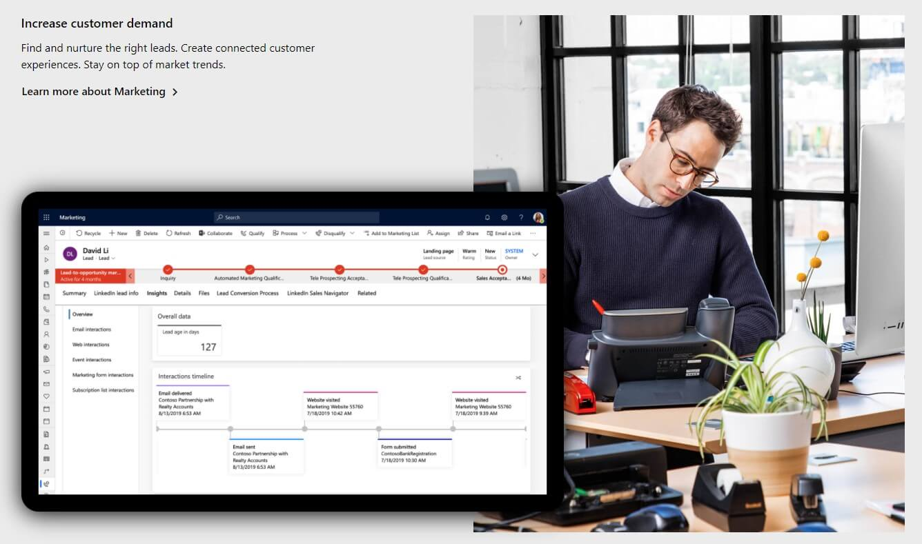 Microsoft Dynamics 365 is another great example of a business in the B2B Industry. B2B vs B2C marketing.