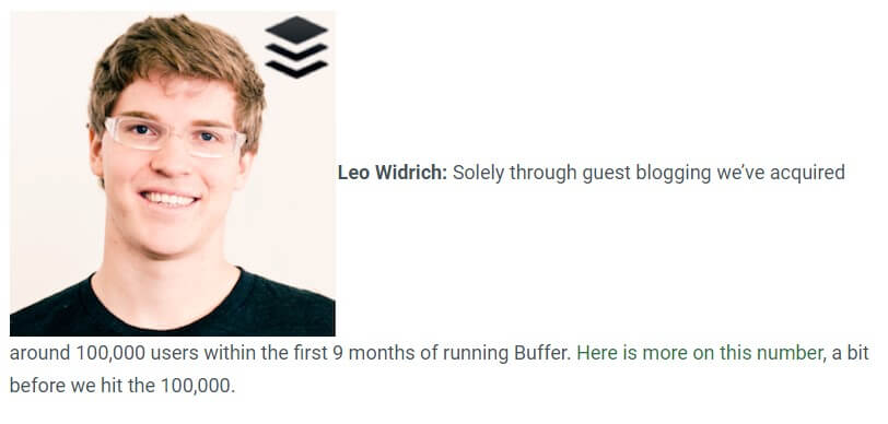 Leo Widrich interview with Search Engine Journal about guest blogging and how important it is for B2B SEO. BufferApp got over 100000 customers because of Guest Blogging.