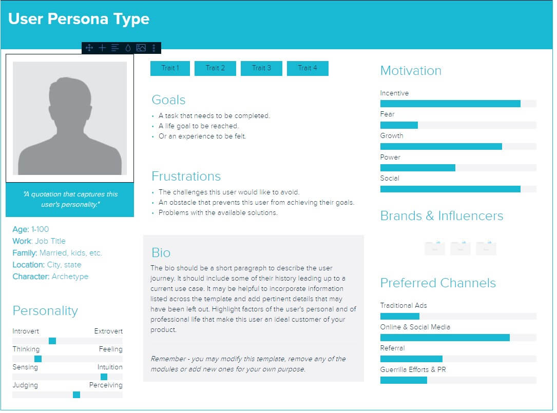 Creating B2B buyer persona with xtension