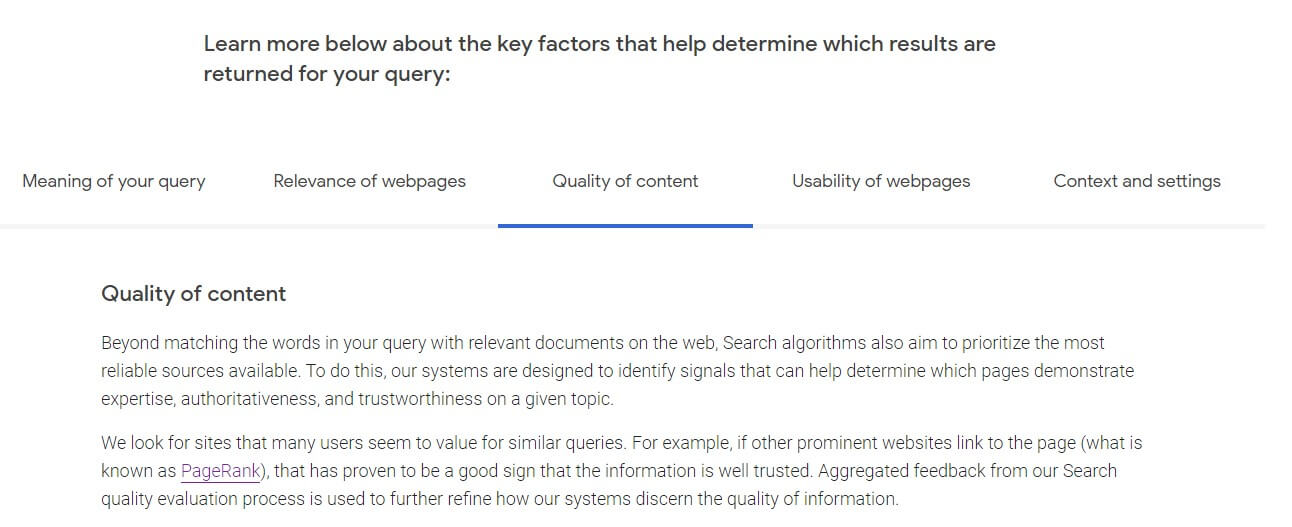 Backlinks for B2B SEO are vital to start ranking higher in the search result. Google guidelines of the quality content statement.
