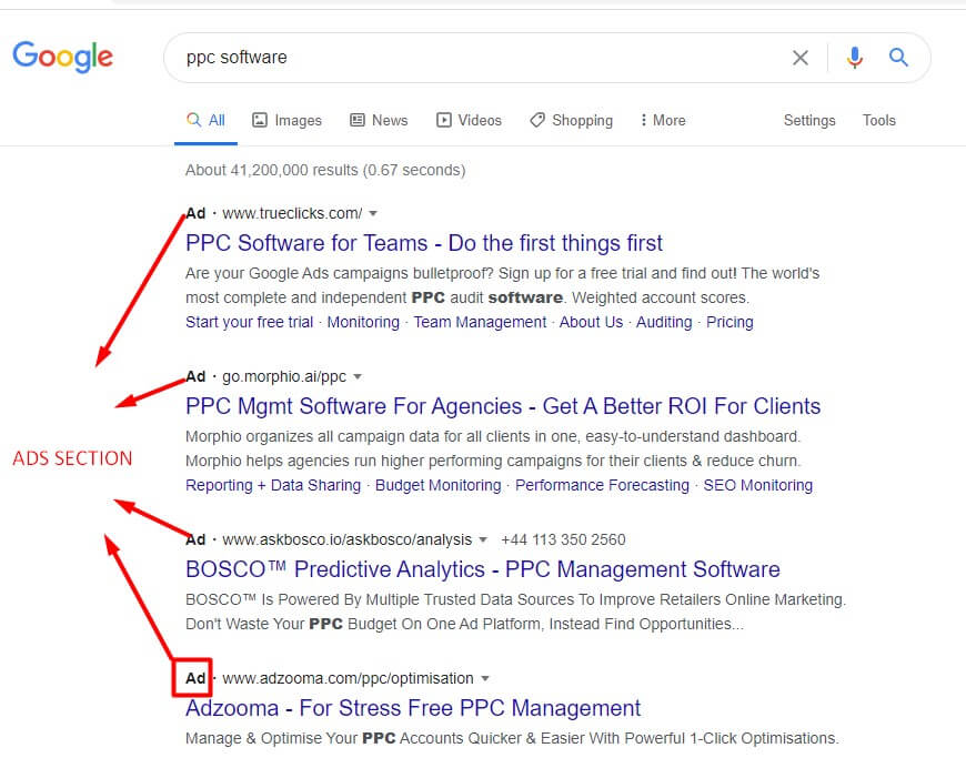 search engine marketing ads ppc section in google. One of the b2b lead generation strategies often used by b2b marketers.
