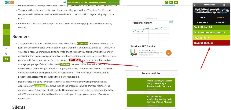 broken links on website for broken link buidling