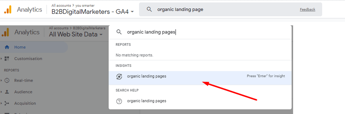 google analytics how to find best organic landing pages