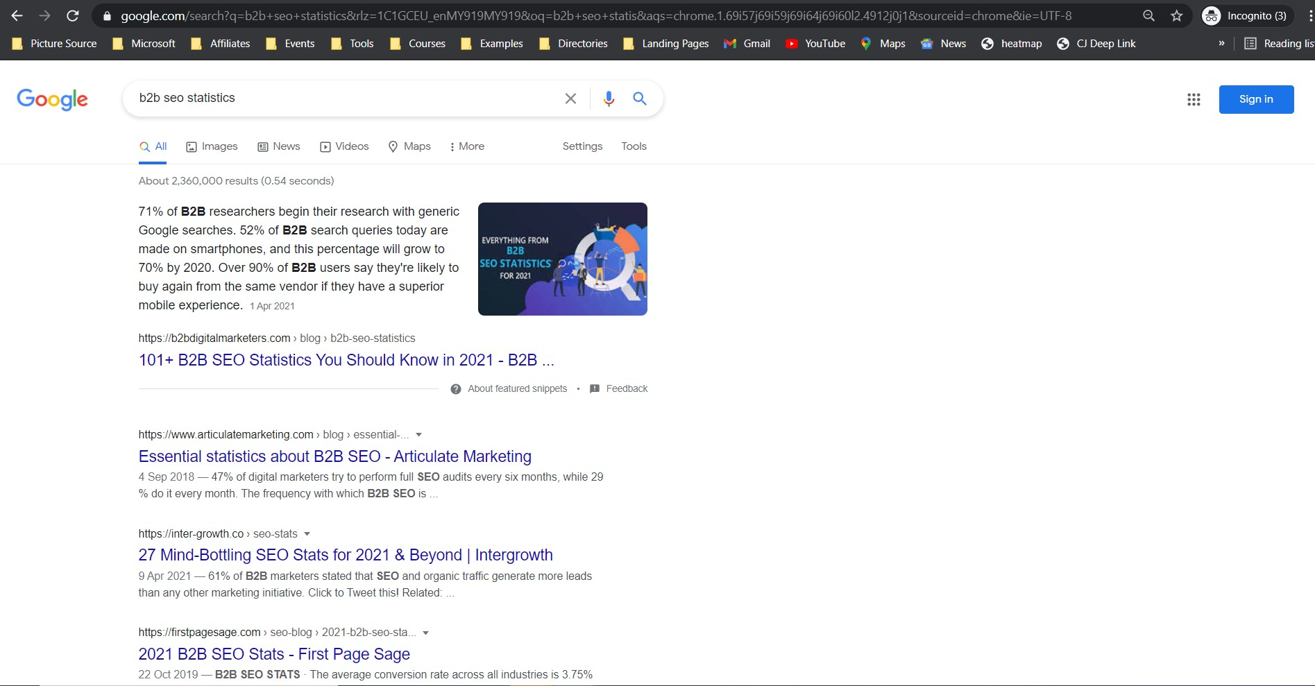 landing website on the top position in Google by sing on-page seo from b2bdigitalmarketers.com