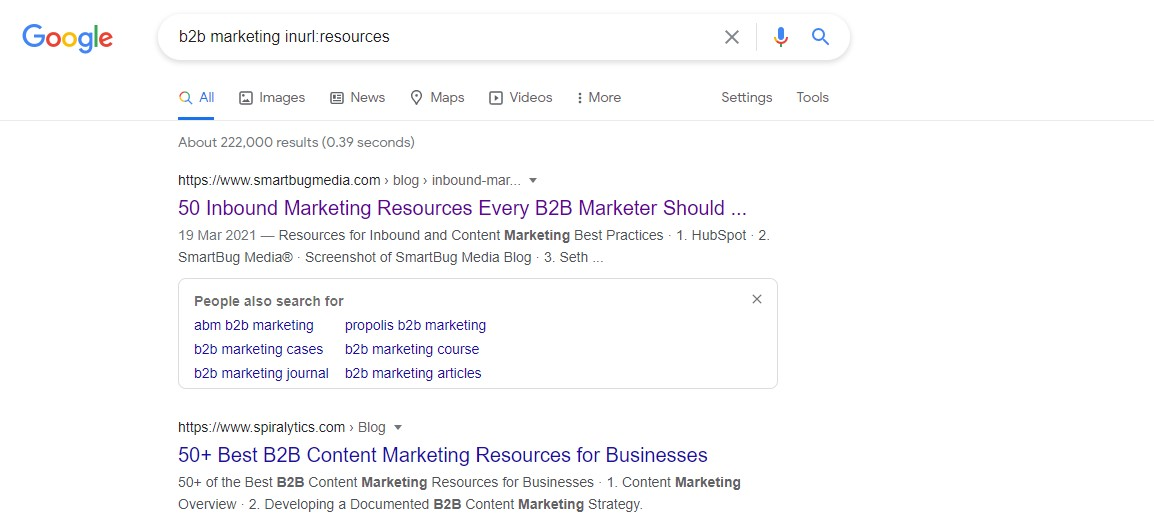 resource link building using search operators to find link building opportunities