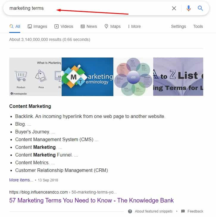 Using google to find seed keywords