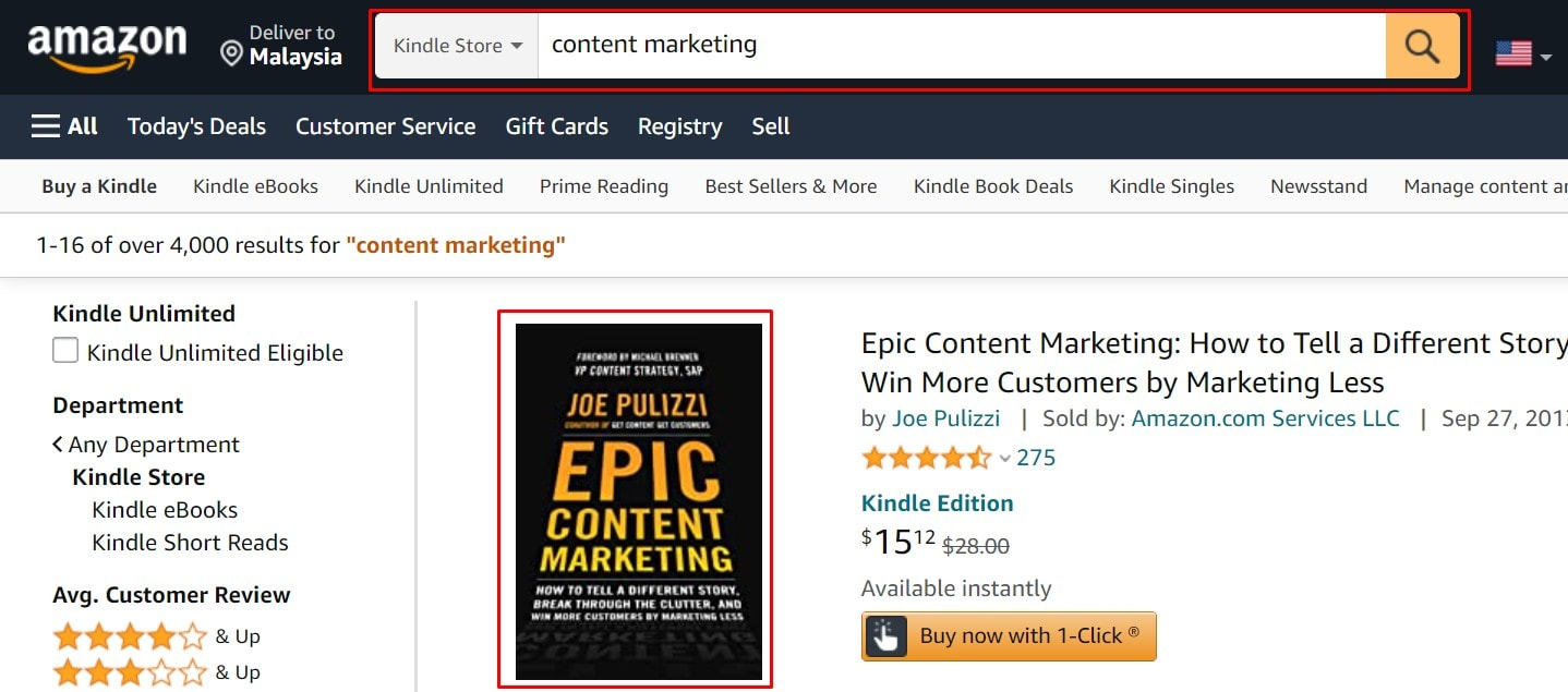 amazon to find seed keywords