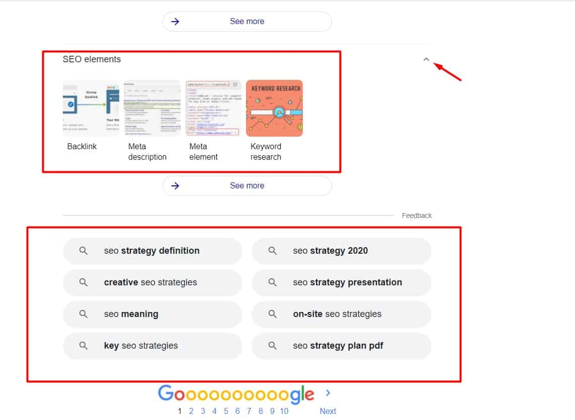 another strategy to find LSI keywords on google