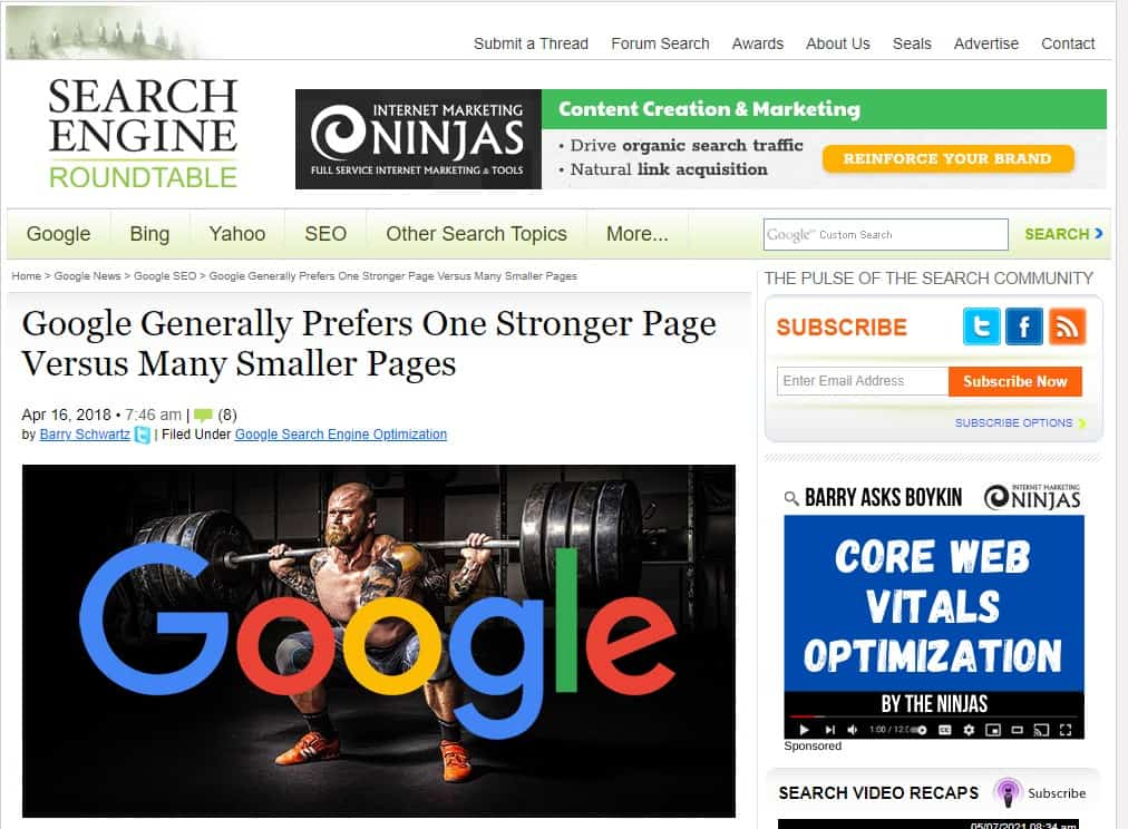 google prefer strong comprehensive page that's why you need to use lsi keywords