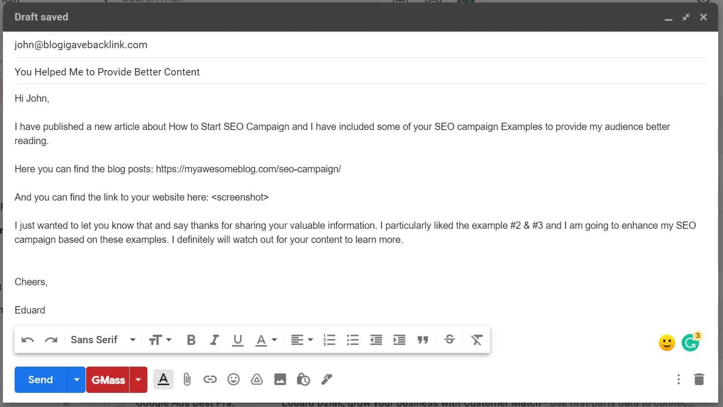 better email outreach to build relationship