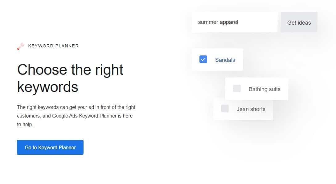 google keyword planner for seed keywords to find profitable keywords