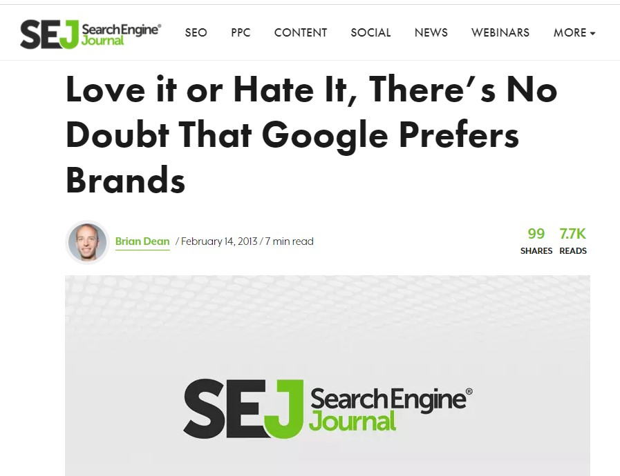brian dean on brand signals and off-page seo on SEJ