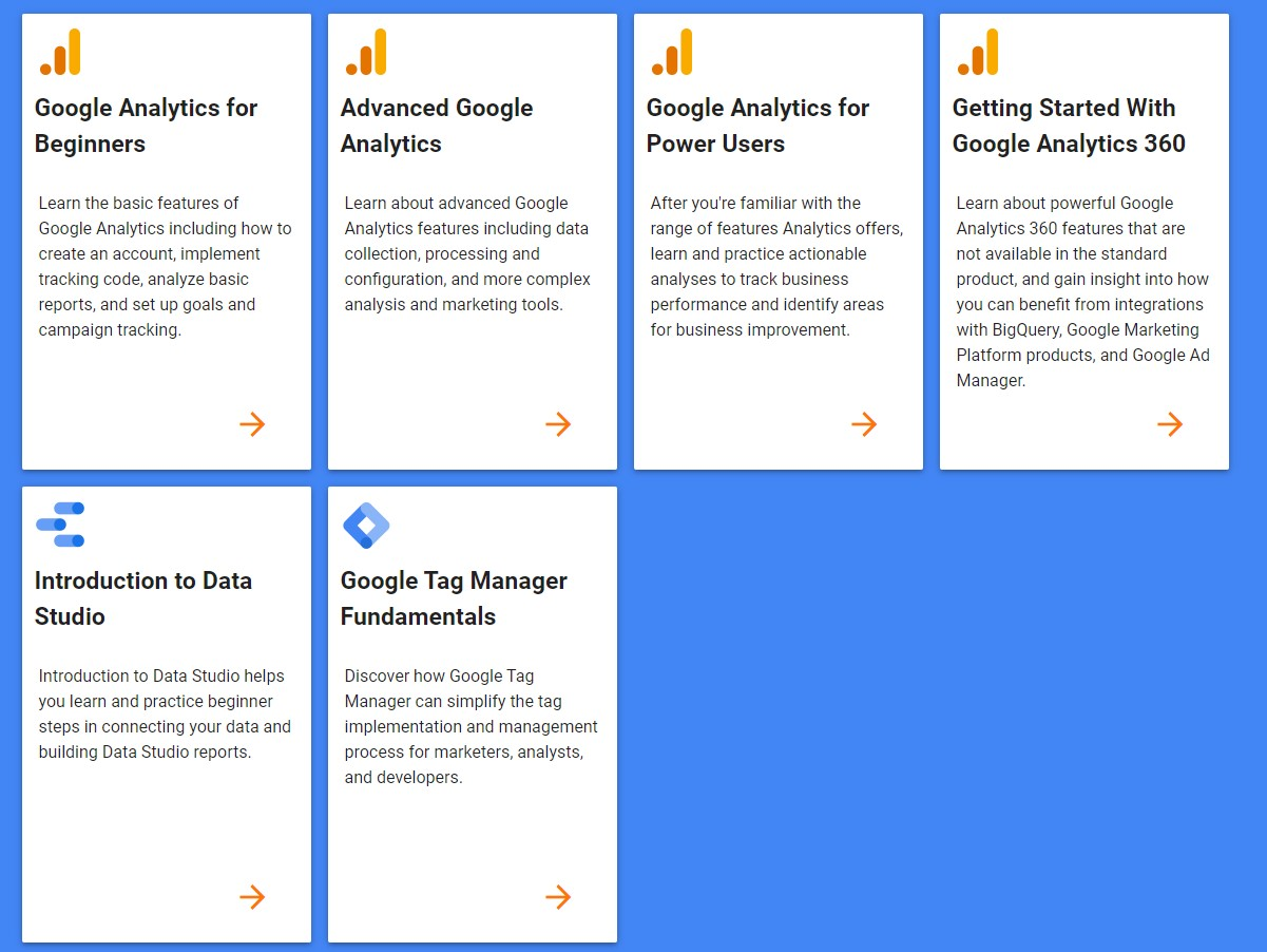 google analytics academy to learn more