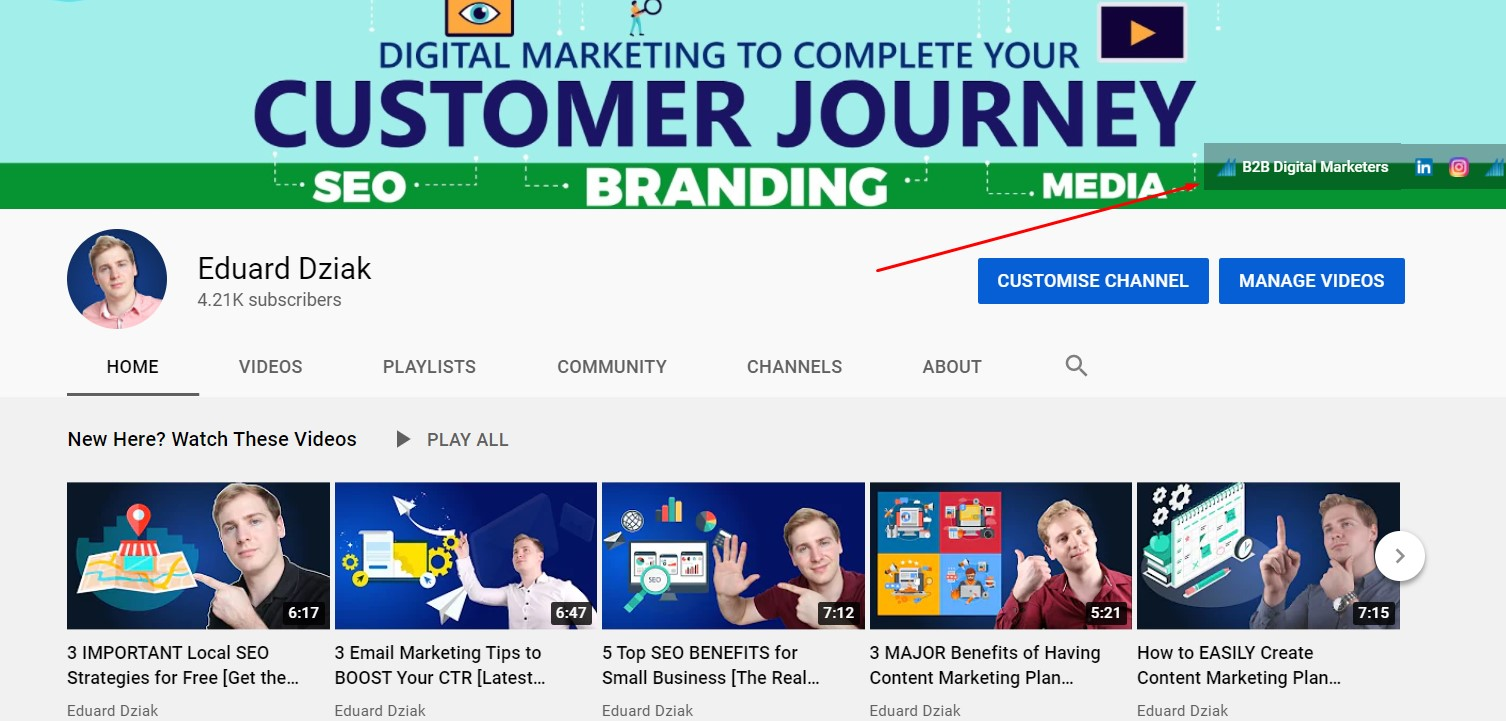 youtube link to website to improve off-page seo and e-a-t