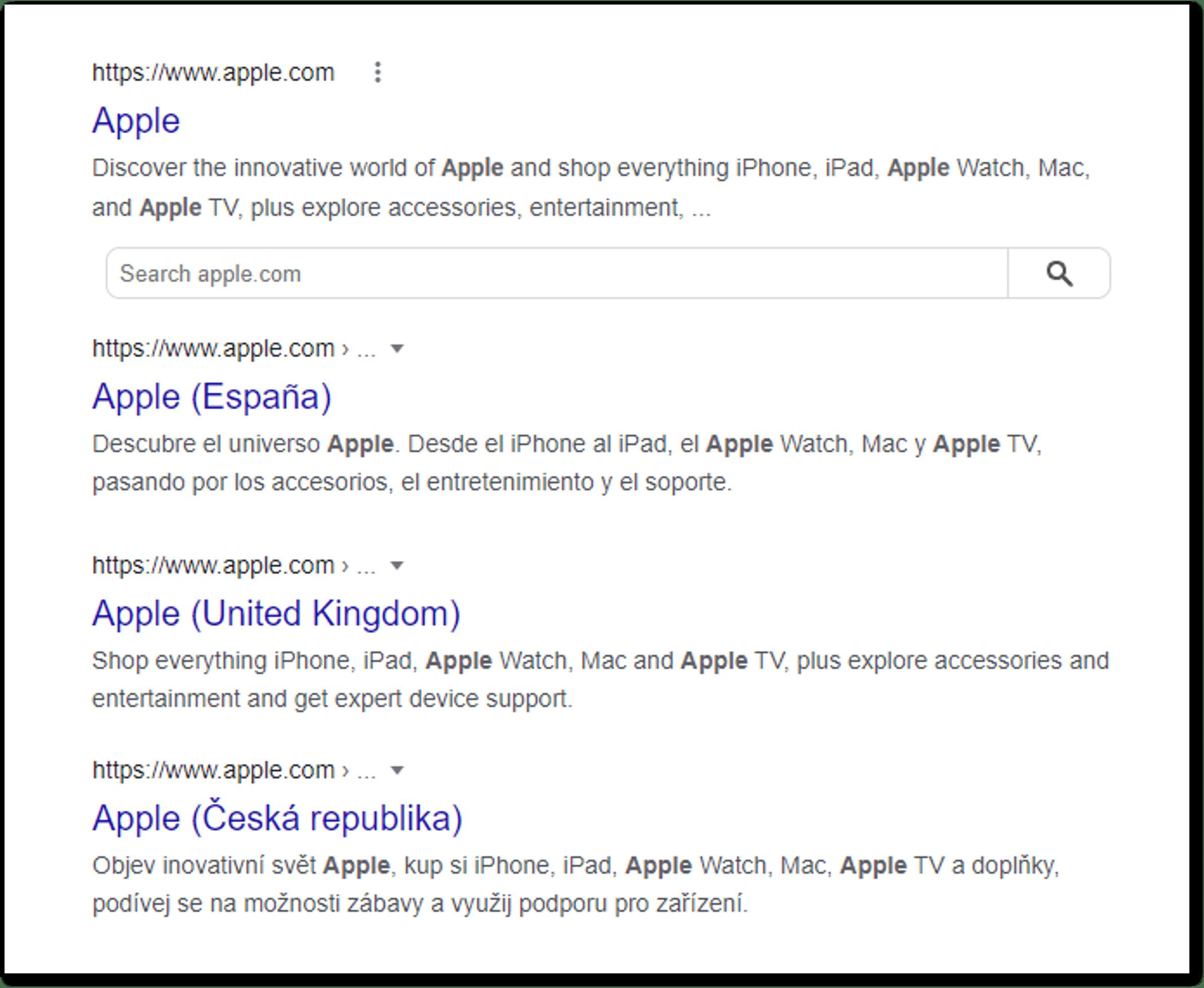 hreflang on apple for technical seo