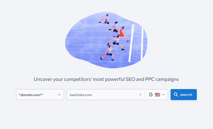 searching for competitors ranking keywords