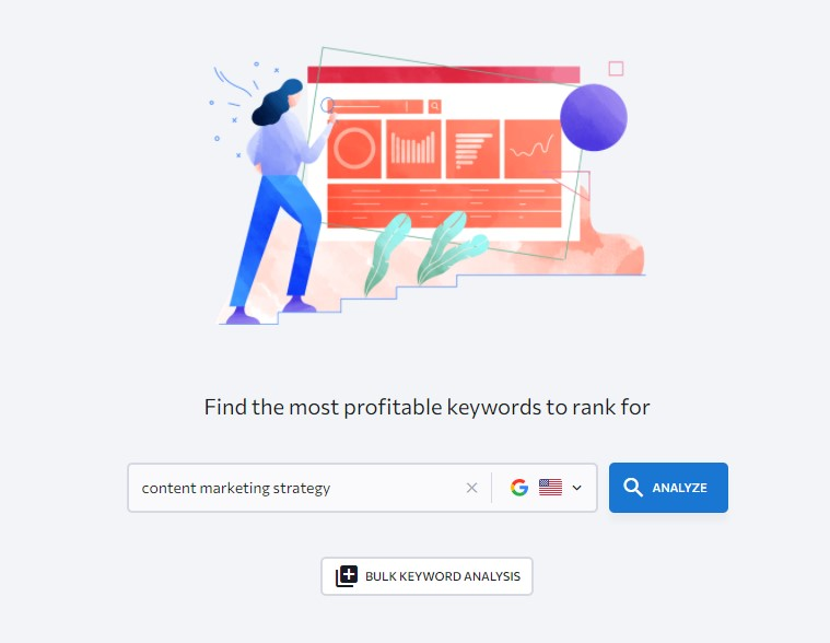 searching for seo keywords by analyzing competitors pages