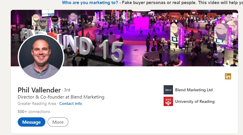 authors linkedin profile for guest posting