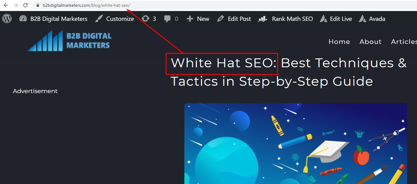 blog seo optimized url structure