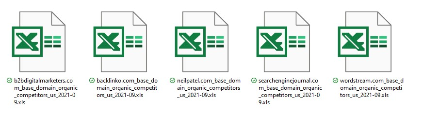 competitors report organic competitors