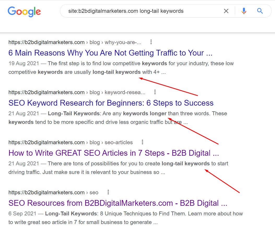 search operator to find internal links opportunities for guest posting