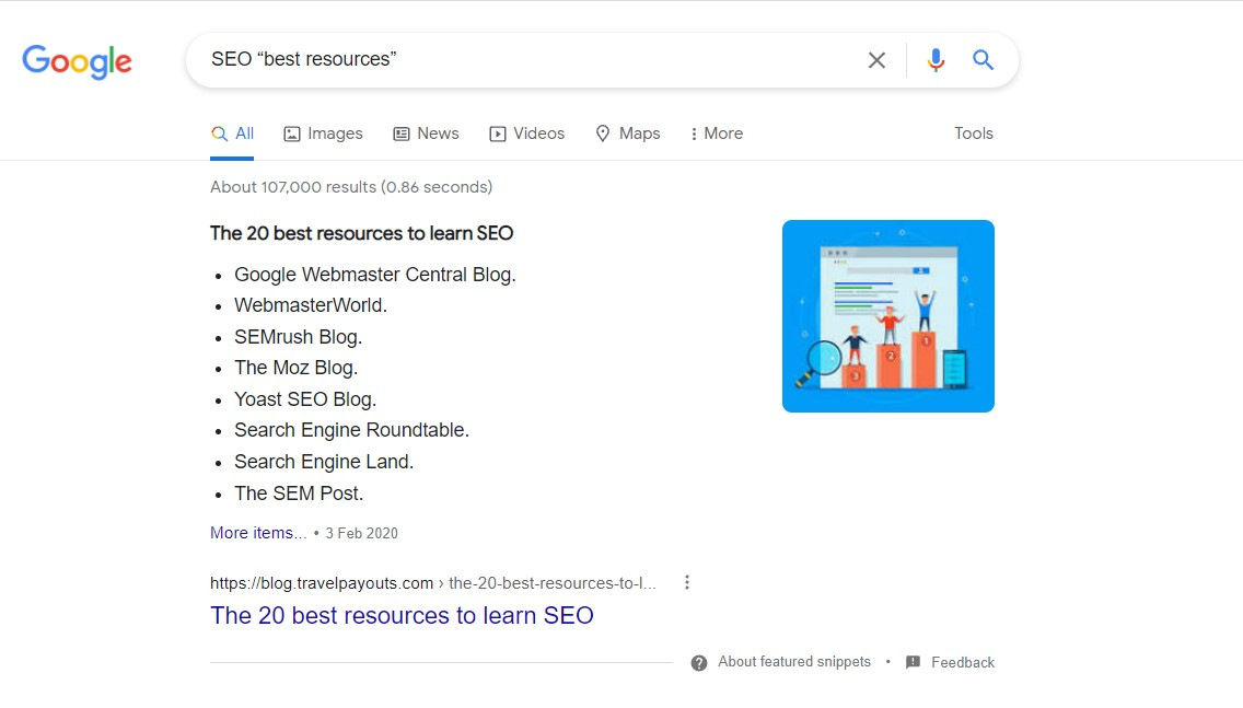 google search operators for resource link building