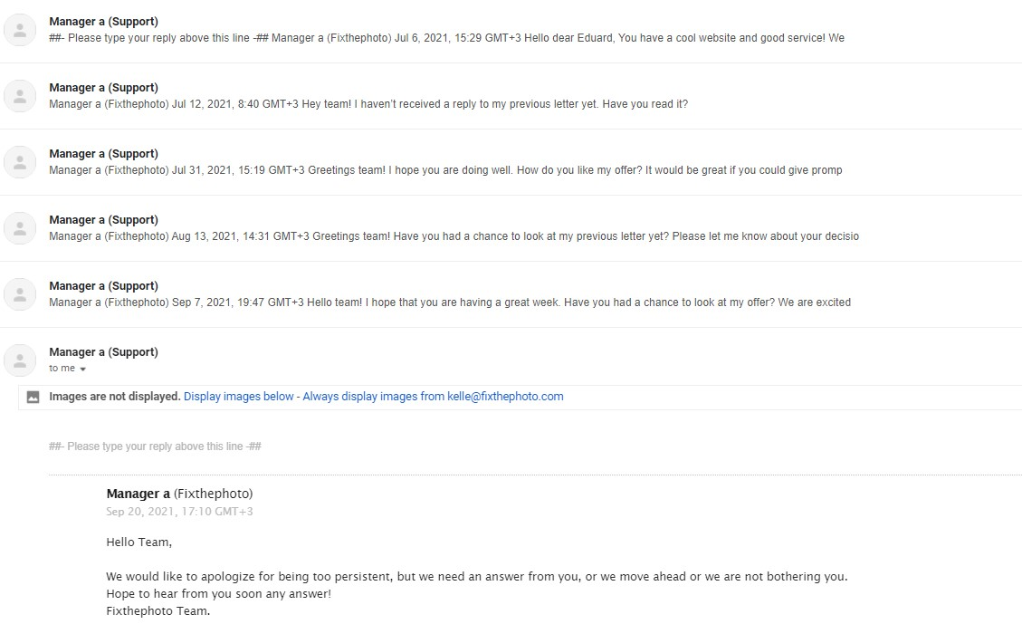 persistent email outreach