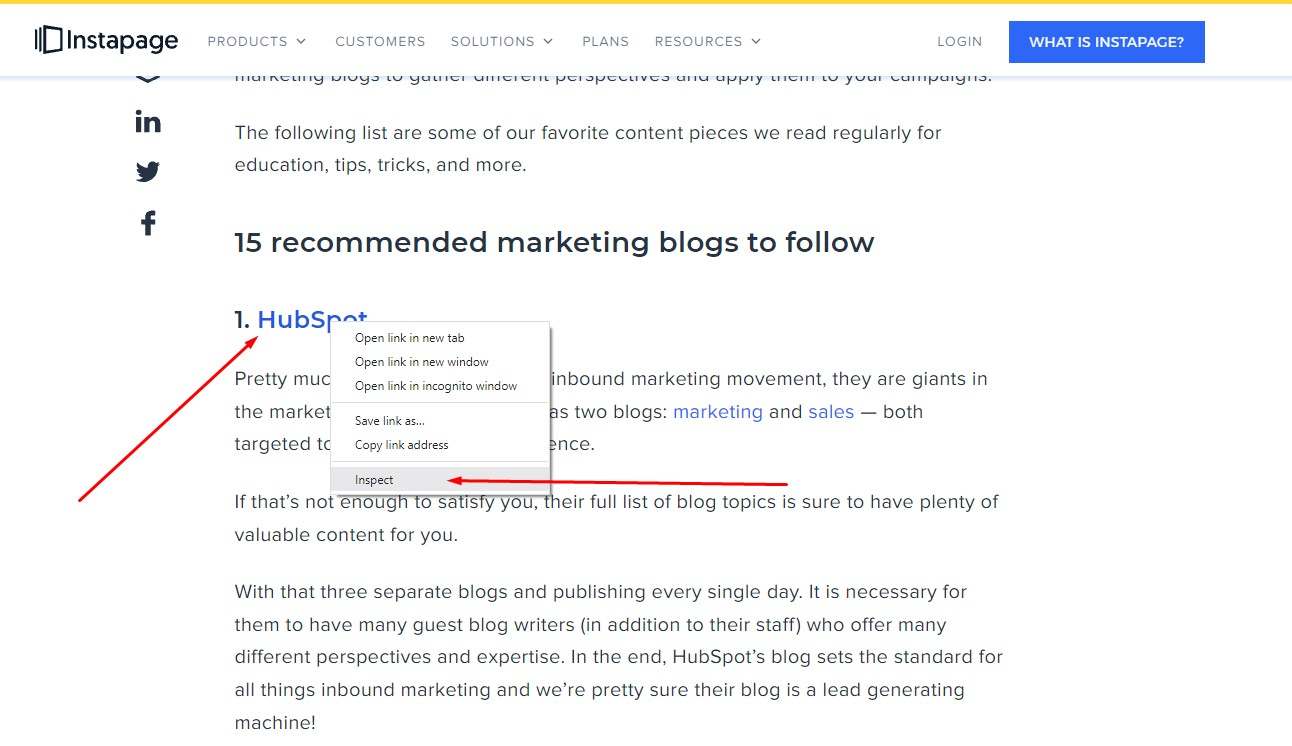 searching for dofollow or nofollow tag on resource page